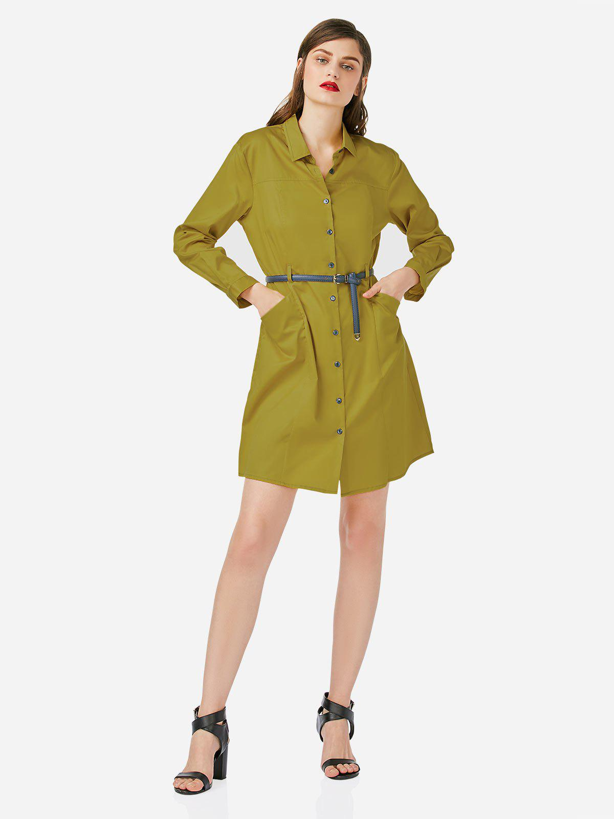 Hot Collar Shirt Dress