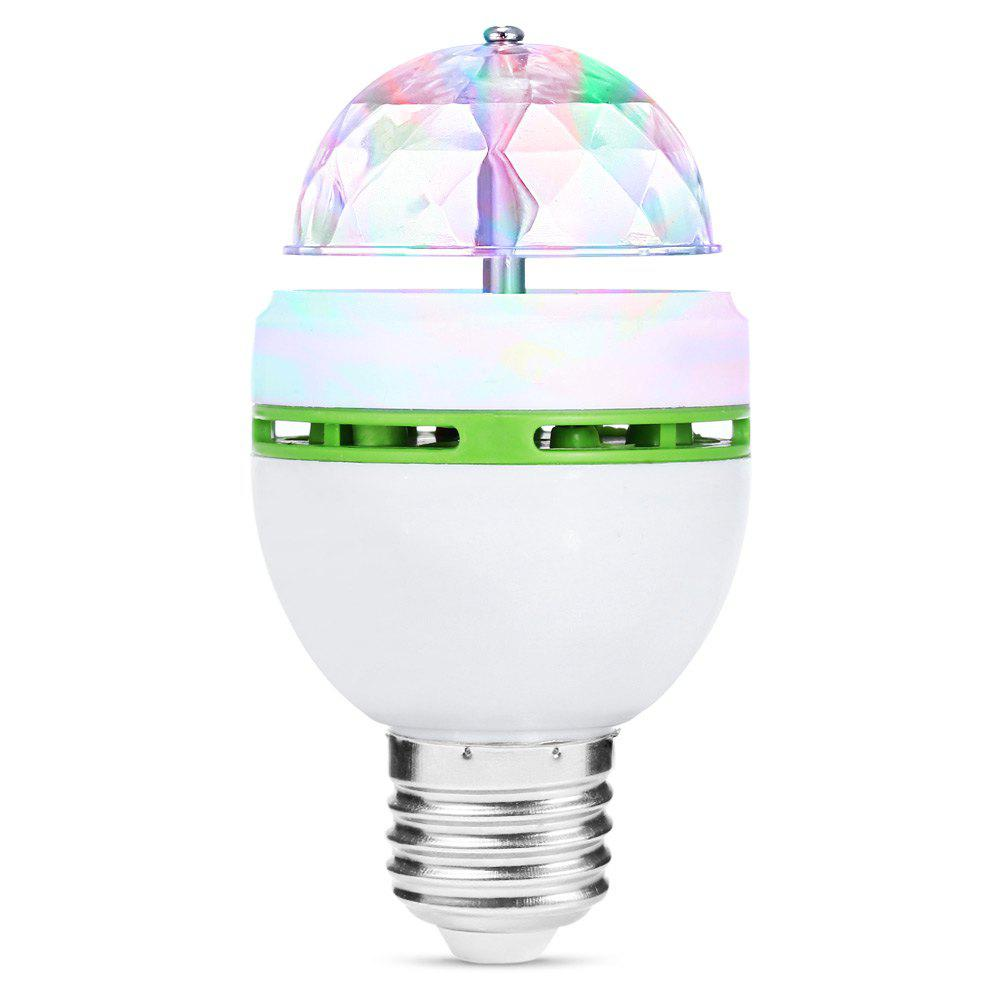 E27 AC85-260V Colorful 3W LED Rotating Lamp Stage Light Party LightHOME<br><br>Color: WHITE AND GREEN; Type: Projector Lamp,LED Effects Stage Light,RGB Stage Light,DJ and Disco Light; Function: For party; Laser Color: RGB Light; Shape: Ball Light; Material: Plastic;