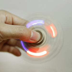LED Light Gyro Fidget Spinner Stress Reliever Pressure Reducing Toy for Office Worker - GOLDEN