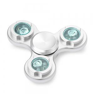 Three-wheel LED Light Gyro Stress Reliever Pressure Reducing Toy for Office Worker -