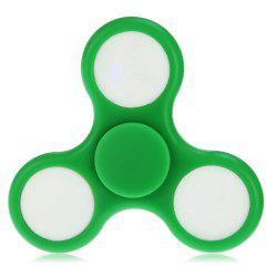 Colorful LED Gyro Stress Reliever Pressure Reducing Toy for Office Worker - GREEN