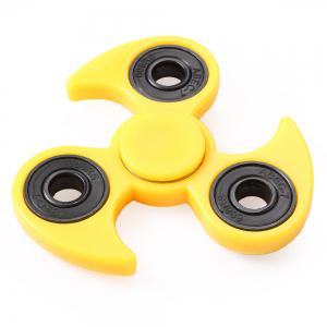 Fly-wheel Gyro Fidget Spinner Stress Reliever Pressure Reducing Toy for Office Worker - Yellow