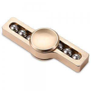 Gyro Stress Reliever Pressure Reducing Fidget for ADHD with Six Rotating Bead for Office Worker - GOLDEN