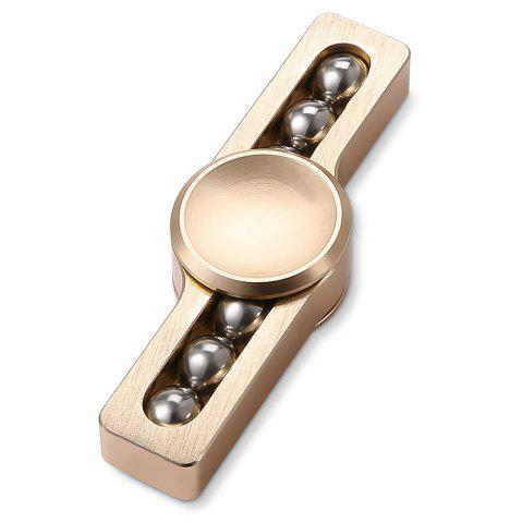 Shops Gyro Stress Reliever Pressure Reducing Fidget for ADHD with Six Rotating Bead for Office Worker GOLDEN