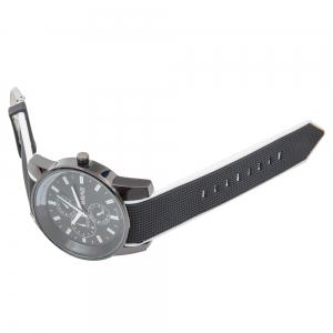 Fashionable Quartz Wrist Watch with Analog Display Rubber Watchband for Men -