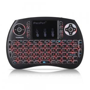 iPazzPort Wireless Mini Keyboard Backlight Function with Touchpad -