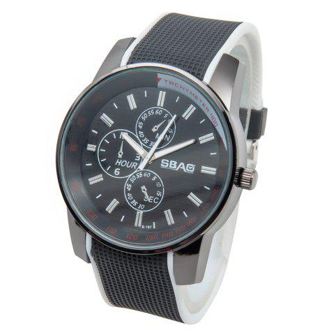 Buy Fashionable Quartz Wrist Watch with Analog Display Rubber Watchband for Men