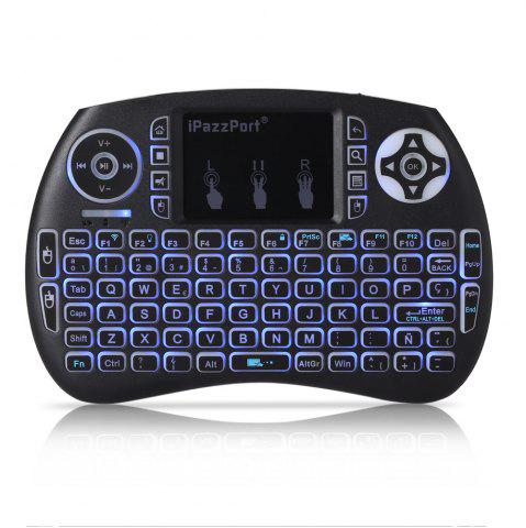 Shops iPazzPort Wireless Mini Keyboard Backlight Function with Touchpad - SPANISH BLACK Mobile
