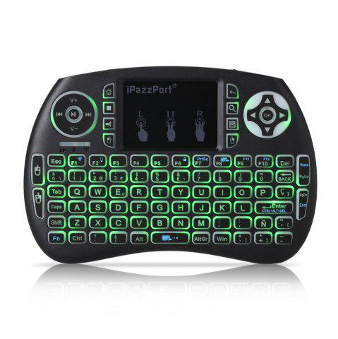 Chic iPazzPort Wireless Mini Keyboard Backlight Function with Touchpad - SPANISH BLACK Mobile