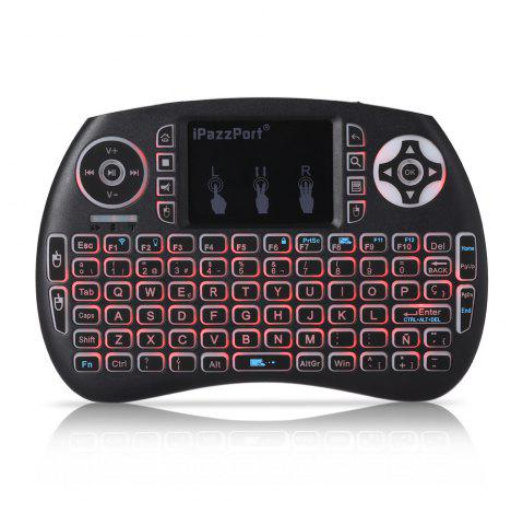Outfit iPazzPort Wireless Mini Keyboard Backlight Function with Touchpad - SPANISH BLACK Mobile