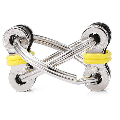 Affordable Chain Puzzle Style Stress Reliever Pressure Reducing Toy for Office Worker YELLOW
