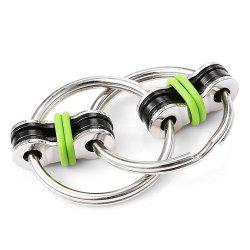 Chain Puzzle Style Stress Reliever Pressure Reducing Toy for Office Worker - GREEN