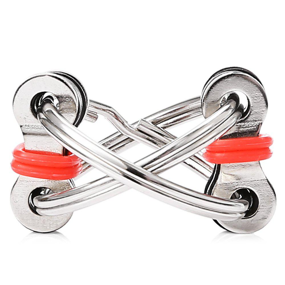Chain Puzzle Style Stress Reliever Pressure Reducing Toy for Office WorkerHOME<br><br>Color: RED; Materials: Metal,Other; Theme: Other; Gender: Unisex; Completeness: Finished Goods; Stem From: Europe and America;