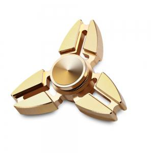 Triangle Copper Gyro Stress Reliever Pressure Reducing Toy for Office Worker - CITRUS