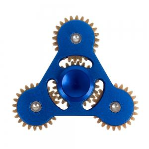 Linkage ADHD Fidget Toy Hand Tri-spinner Stress Relief Toy Relaxation Gift for Adults - Blue - 6*6cm