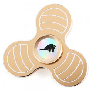 KELIMA Three-blade Zinc Alloy Fidget Spinner ADHD Stress Relief Product Adult Fidgeting Toy - Golden - 6.5*6.5*1.7cm
