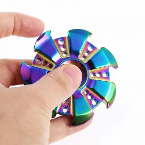Zinc Alloy Gyro Stress Reliever Pressure Reducing Toy for Office Worker - COLORFUL