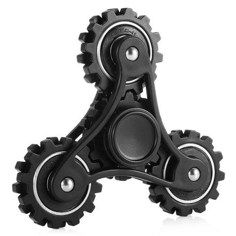 Latest Four Gear Linkage Fidget Spinner Zinc Alloy Stress Relief Toy Relaxation Gift for Adults BLACK