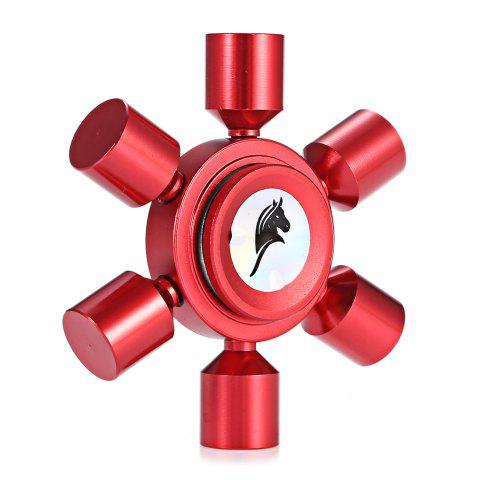 Best KELIMA Aluminum Alloy ADHD Fidget Spinner Rudder Shape Stress Reliever Toy Relaxation Gift RED