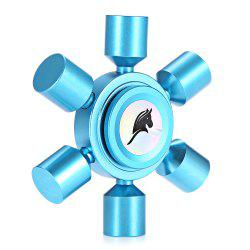 KELIMA Aluminum Alloy ADHD Fidget Spinner Rudder Shape Stress Reliever Toy Relaxation Gift - BLUE