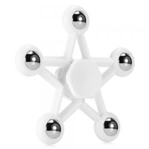 Five-pointed Star Plastic Hand Spinner Funny Stress Reliever Relaxation Gift - White - Us Plug