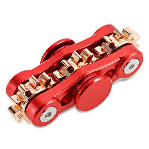 Shop 3-Gear Linkage Fidget Spinner Stress Relief Toy Relaxation Gift for Adults RED