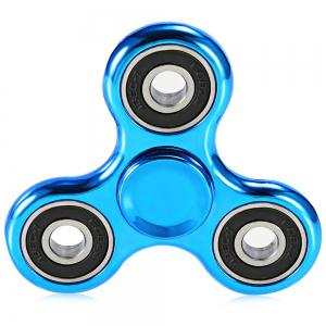 Electroplated Tri-wing Fidget Spinner Stress Relief Product Adult Fidgeting Toy - BLUE