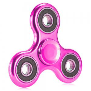 Electroplated Tri-wing Fidget Spinner Stress Relief Product Adult Fidgeting Toy - Pink