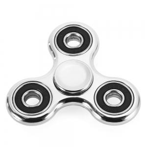 Electroplated Tri-wing Fidget Spinner Stress Relief Product Adult Fidgeting Toy - SILVER
