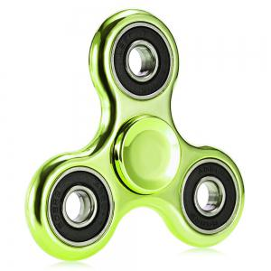Electroplated Tri-wing Fidget Spinner Stress Relief Product Adult Fidgeting Toy - Green - 7.5*7.5*1.3cm