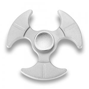 Tri-bladed Axe Zinc Alloy Fidget Spinner Stress Relief Product Adult Fidgeting Toy - SILVER