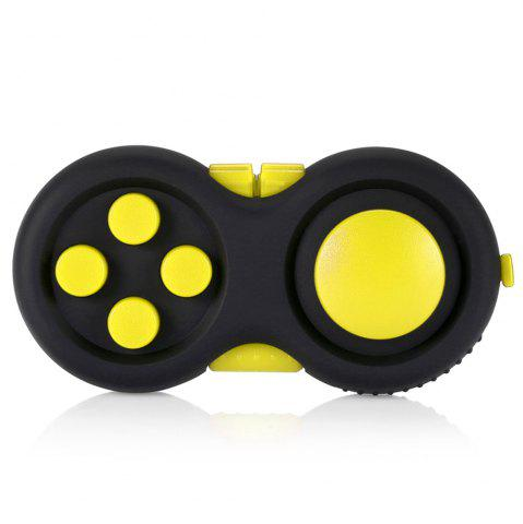 Cheap Magic Cube Style Fidget Spinner Funny Stress Reliever Relaxation Gift YELLOW