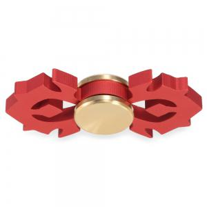 Horn-shaped Aluminum Alloy Fidget Spinner Stress Relief Toy Relaxation Gift for Adults - RED