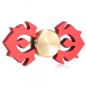 Horn-shaped Aluminum Alloy Fidget Spinner Stress Relief Toy Relaxation Gift for Adults