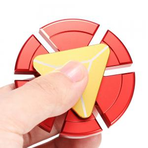 Circular Six-blade Fidget Spinner Stress Relief Toy Relaxation Gift for Adults - GOLDEN