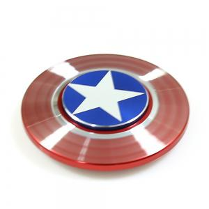Round Threaded Fidget Spinner American Style Funny Stress Reliever Relaxation Gift - RED