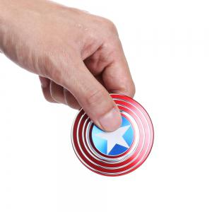 Round Threaded Fidget Spinner American Style Funny Stress Reliever Relaxation Gift -