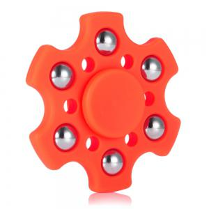 Hexagon ABS Fidget Spinner with r188 Bearing Stress Relief Product Adult Fidgeting Toy - RED