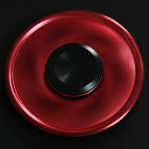 Circular Spinning Blade Aluminum Alloy Fidget Spinner Stress Reliever Toy Relaxation Gift - WINE RED