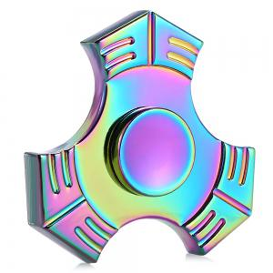 Colorful Trigram Zinc Alloy Fidget Spinner Stress Relief Product Adult Fidgeting Toy - Colormix - 6.5*6.5*1.7cm