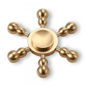 Hexagon Detachable Cucurbit Pure Brass Fidget Spinner Funny Stress Reliever Relaxation Gift - COPPER COLOR