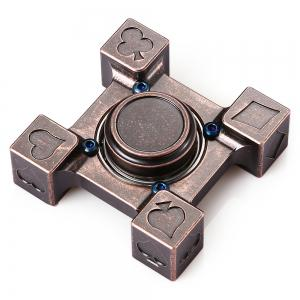 ADHD Brass Fidget Square Hand Spinner Stress Relief Product Adult Fidgeting Toy - RED BRONZED