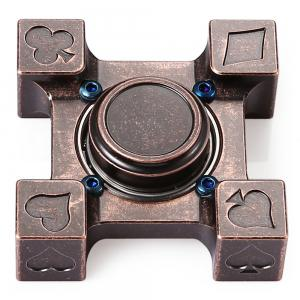 ADHD Brass Fidget Square Hand Spinner Stress Relief Product Adult Fidgeting Toy -