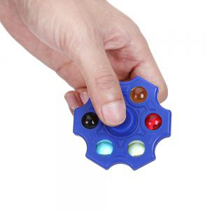 Six-blade Fidget Spinner Stress Reliever Toy Relaxation Gift - BLUE