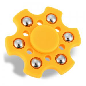 Hexagon ABS Fidget Spinner with r188 Bearing Stress Relief Product Adult Fidgeting Toy - ORANGE