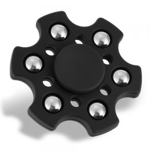 Hexagon ABS Fidget Spinner with r188 Bearing Stress Relief Product Adult Fidgeting Toy - BLACK