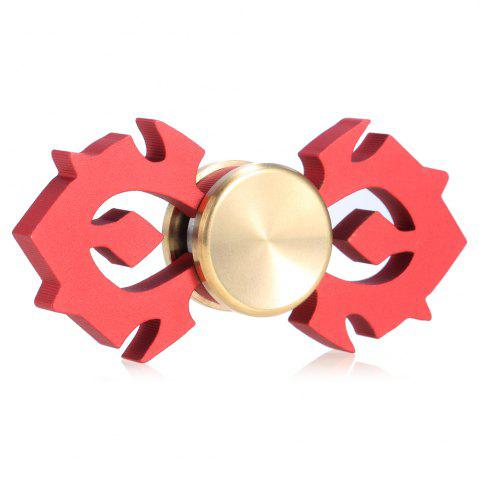 Latest Horn-shaped Aluminum Alloy Fidget Spinner Stress Relief Toy Relaxation Gift for Adults RED