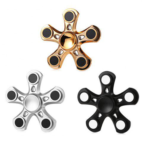 Buy Five-blade Aluminum Alloy Fidget Spinner with Copper Bearing Stress Relief Product Adult Fidgeting Toy - GOLDEN  Mobile