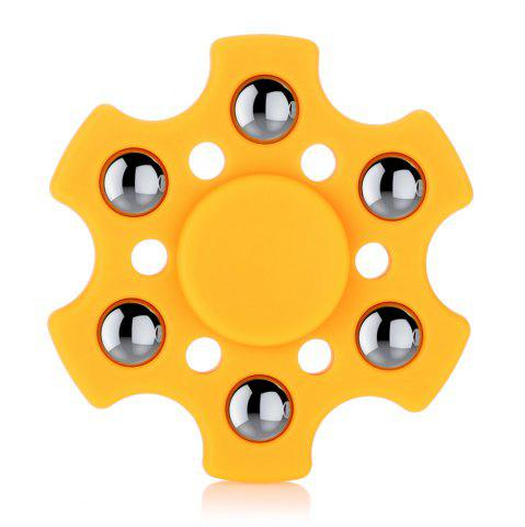 Buy Hexagon ABS Fidget Spinner with r188 Bearing Stress Relief Product Adult Fidgeting Toy ORANGE