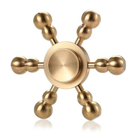 Discount Hexagon Detachable Cucurbit Pure Brass Fidget Spinner Funny Stress Reliever Relaxation Gift COPPER COLOR